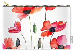 Colorful Red Flowers Carry-all Pouch