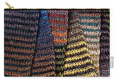 Carry-all Pouch featuring the photograph Colorful Scarves by Les Palenik
