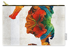Colorful Seahorse Art By Sharon Cummings Carry-all Pouch by Sharon Cummings
