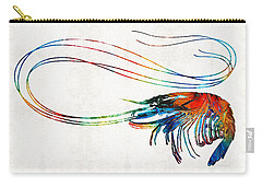 Colorful Shrimp Art By Sharon Cummings Carry-all Pouch