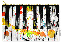 Carry-all Pouch featuring the photograph Colorful Sound by Aaron Berg