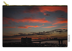 Carry-all Pouch featuring the photograph Colorful Sunset by Jane Luxton
