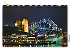 Colorful Sydney Harbour Bridge By Night Carry-all Pouch
