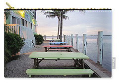 Carry-all Pouch featuring the photograph Colorful Tables by Cynthia Guinn