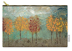 Colorful Trees Carry-all Pouch by Linda Bailey