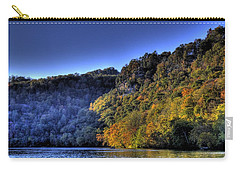 Carry-all Pouch featuring the photograph Colorful Trees Over A Lake by Jonny D