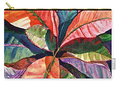 Colorful Tropical Leaves 1 Carry-all Pouch