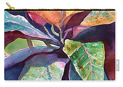 Colorful Tropical Leaves 3 Carry-all Pouch