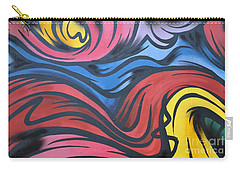 Carry-all Pouch featuring the photograph Colorful Urban Street Art From Singapore by Imran Ahmed