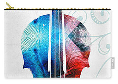 Colorful Violin Art By Sharon Cummings Carry-all Pouch by Sharon Cummings