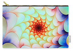 Carry-all Pouch featuring the digital art Colorful Web by Anastasiya Malakhova