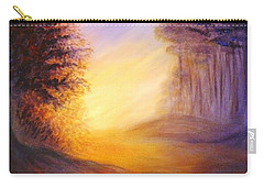 Carry-all Pouch featuring the painting Colors Of The Morning Light by Lilia D