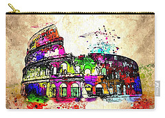 Colosseo Grunge  Carry-all Pouch by Daniel Janda