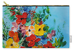 Carry-all Pouch featuring the painting Colour Of Spring by Teresa Wegrzyn