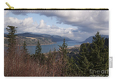 Carry-all Pouch featuring the photograph Columbia Gorge by Belinda Greb