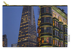 Columbus And Transamerica Buildings Carry-all Pouch