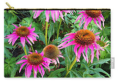 Carry-all Pouch featuring the photograph Comely Coneflowers by Meghan at FireBonnet Art