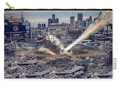 Carry-all Pouch featuring the photograph Comerica Park Asteroid by Nicholas  Grunas