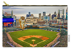 Carry-all Pouch featuring the photograph Comerica Park Detroit Mi With The Tigers by Nicholas  Grunas