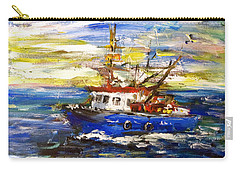 Carry-all Pouch featuring the painting Coming Back by Arturas Slapsys