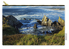 Carry-all Pouch featuring the photograph Coming Together by Belinda Greb
