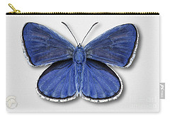 Common Blue Butterfly - Polyommatus Icarus Butterfly Naturalistic Painting - Nettersheim Eifel Carry-all Pouch