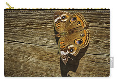 Common Buckeye With Torn Wing Carry-all Pouch by Lynn Palmer