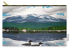 Common Loon On Togue Pond By Mount Katahdin Carry-all Pouch
