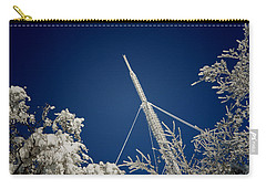 Communication Pole Covered With Snow In A Sunny Winter Day Carry-all Pouch by Vlad Baciu