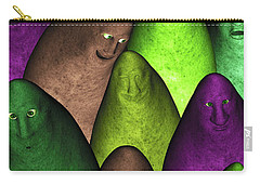 Carry-all Pouch featuring the digital art Community 2 by Gabiw Art