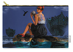 Carry-all Pouch featuring the digital art Commute by Galen Valle