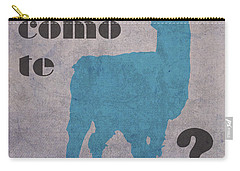 Como Te Llamas Humor Pun Poster Art Carry-all Pouch by Design Turnpike