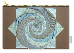Carry-all Pouch featuring the mixed media Compass Headings by Ron Davidson
