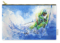 Carry-all Pouch featuring the painting Competitive Edge by Hanne Lore Koehler