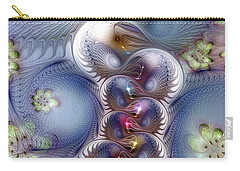 Carry-all Pouch featuring the digital art Complicit In Comfort by Casey Kotas