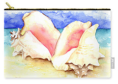 Conch Shells On Beach Carry-all Pouch