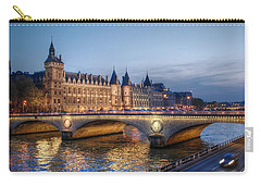 Conciergerie And Pont Napoleon At Twilight Carry-all Pouch