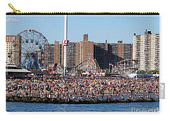 Carry-all Pouch featuring the photograph Coney Island by Ed Weidman