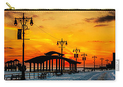 Coney Island Winter Sunset Carry-all Pouch by Chris Lord