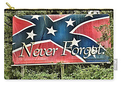 Confederate Flag In The Woods Carry-all Pouch