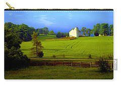 Carry-all Pouch featuring the photograph Conley Road Farm Spring Time by Tom Jelen