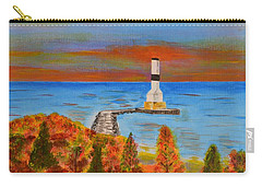 Fall, Conneaut Ohio Light House Carry-all Pouch