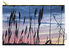 Carry-all Pouch featuring the photograph Connecticut Sunset With Reeds Series 4 by Marianne Campolongo