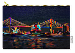 Container Ship Arriving At Savannah Carry-all Pouch
