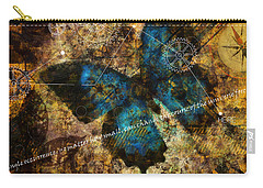 Carry-all Pouch featuring the digital art Contemplating The Butterfly Effect  by Nola Lee Kelsey