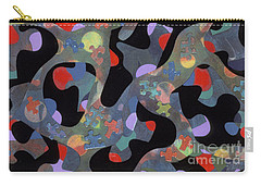contemporary abstract art - Inside Outside Carry-all Pouch