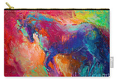 Contemporary Vibrant Horse Painting Carry-all Pouch