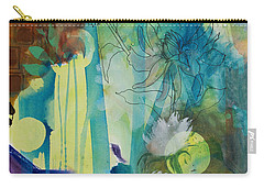 Carry-all Pouch featuring the painting Continuum by Robin Maria Pedrero