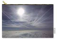 Contrail Panorama Carry-all Pouch by Greg Reed