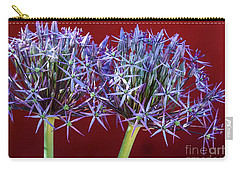 Carry-all Pouch featuring the photograph Flowering Onions by Roselynne Broussard